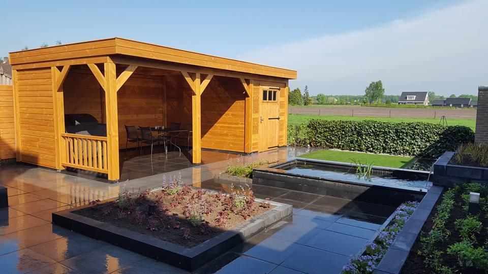 Renovatie achtertuin Emst en plaatsen veranda